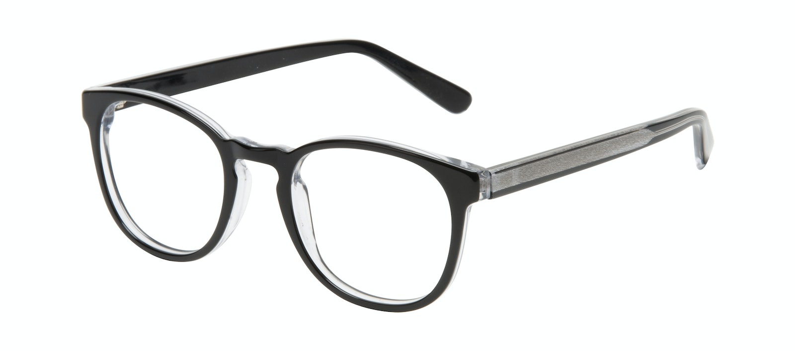 Affordable Fashion Glasses Round Eyeglasses Men Boreal Black Ice Tilt