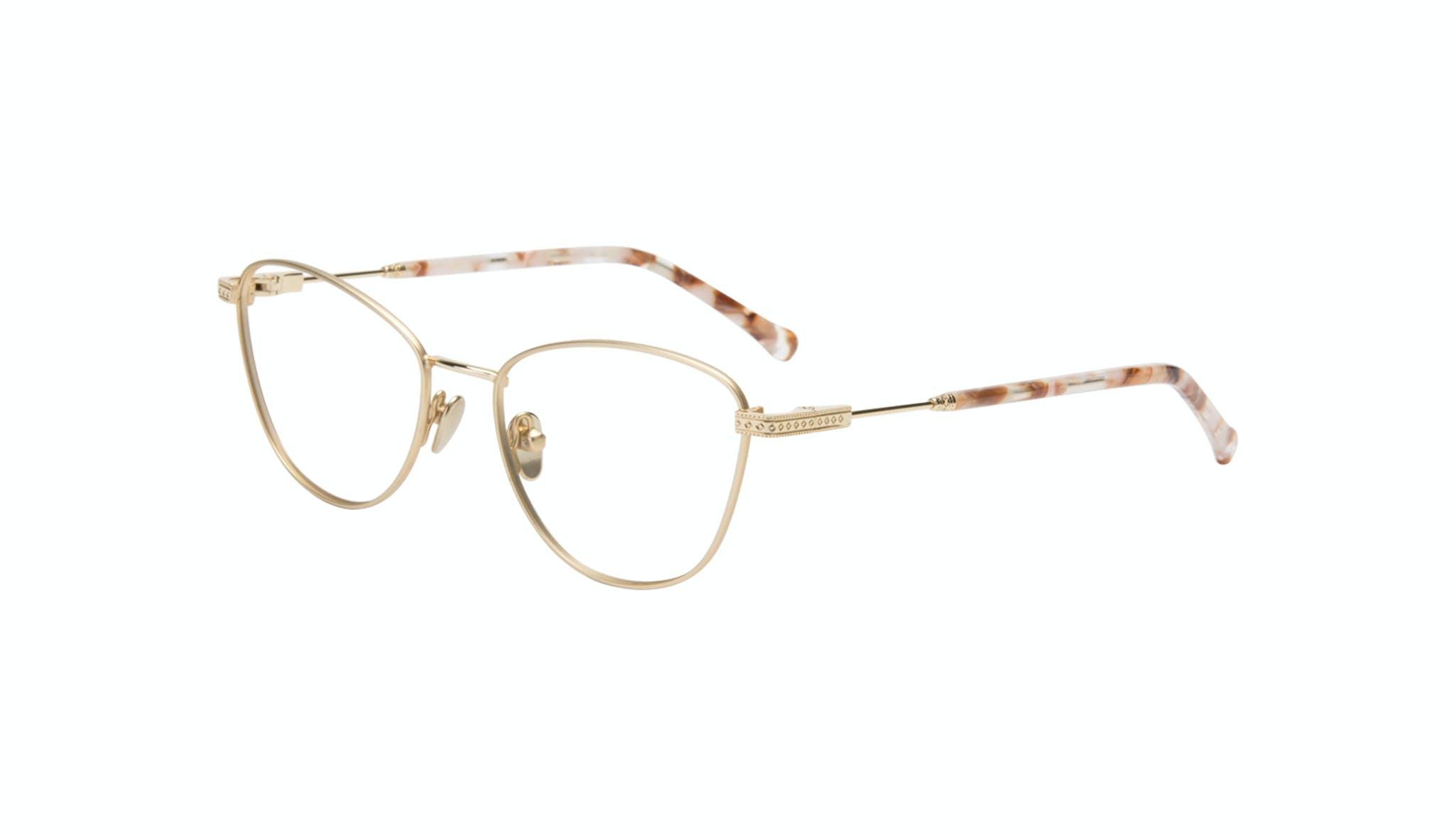 Affordable Fashion Glasses Cat Eye Eyeglasses Women Bow Golden Quartz Tilt