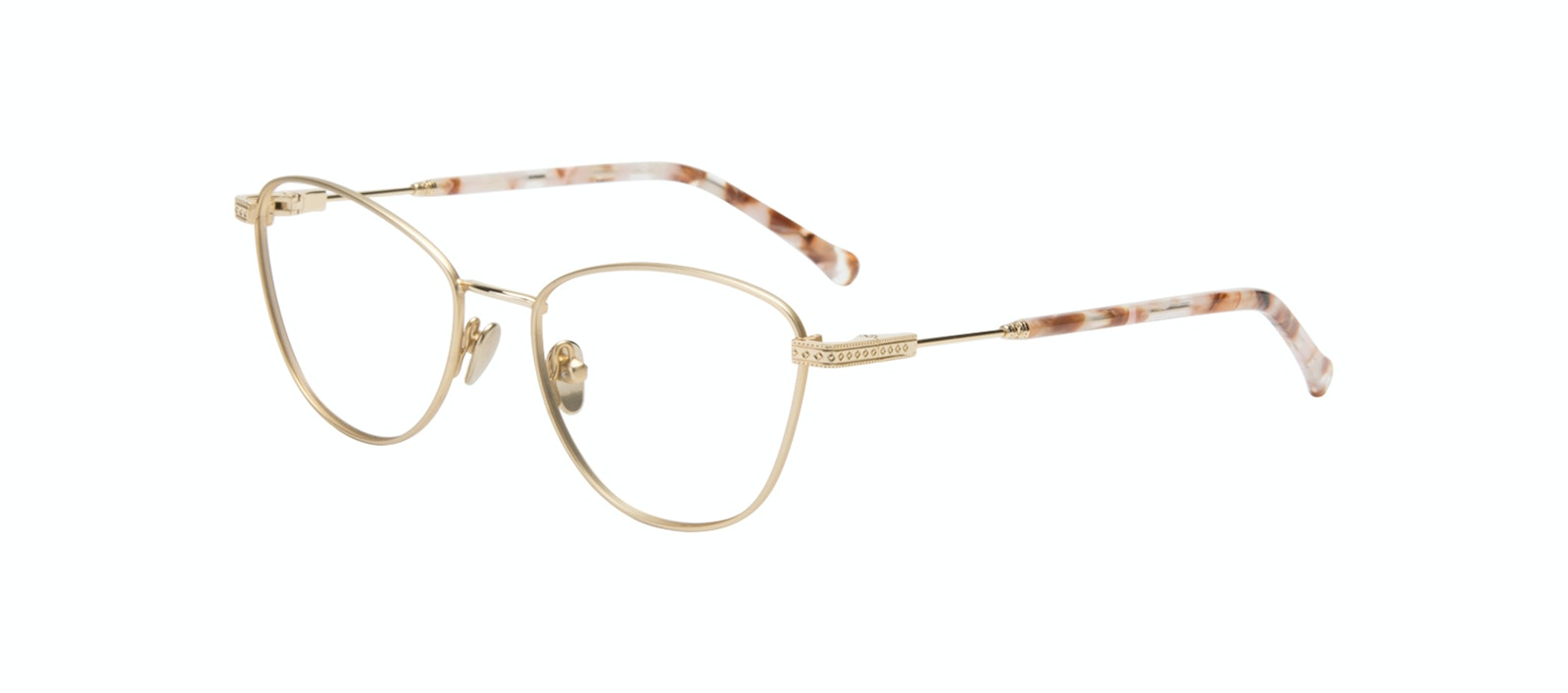 Affordable Fashion Glasses Cat Eye Eyeglasses Women Bow Golden Quartz Tilt