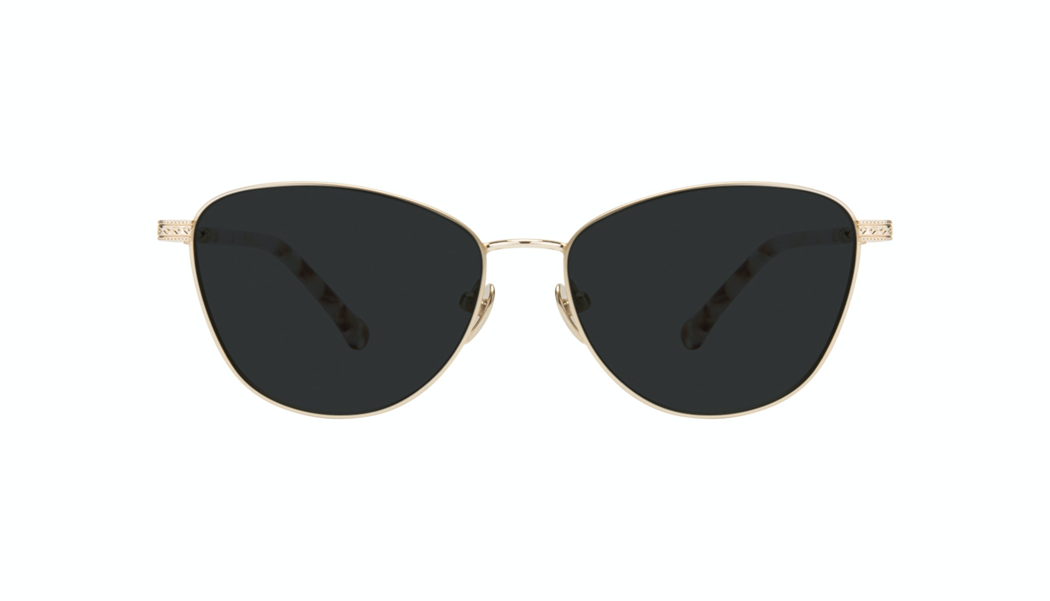 Affordable Fashion Glasses Cat Eye Sunglasses Women Bow Golden Quartz
