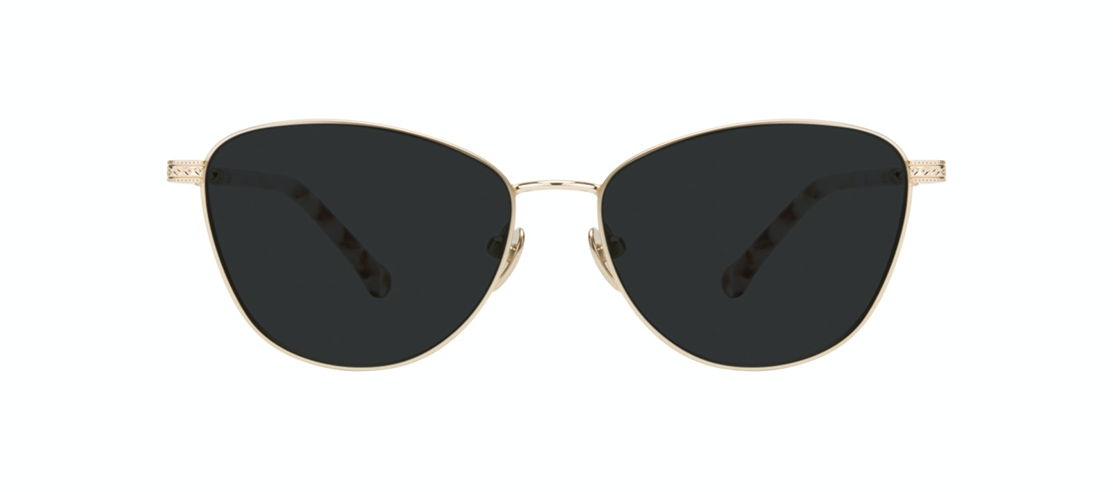 Affordable Fashion Glasses Cat Eye Sunglasses Women Bow Golden Quartz Front