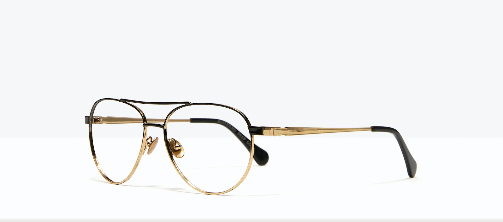 Affordable Fashion Glasses Aviator Eyeglasses Women Boyfriend Deep Gold Tilt