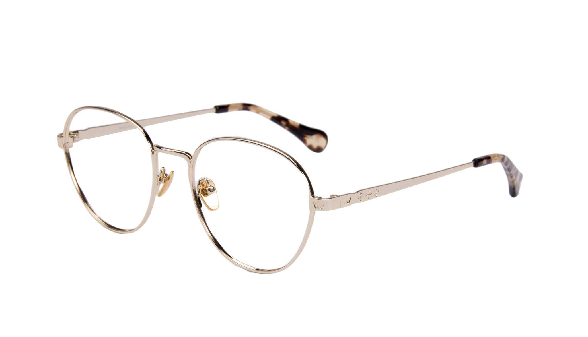 Affordable Fashion Glasses Round Eyeglasses Women Brace gold Tilt