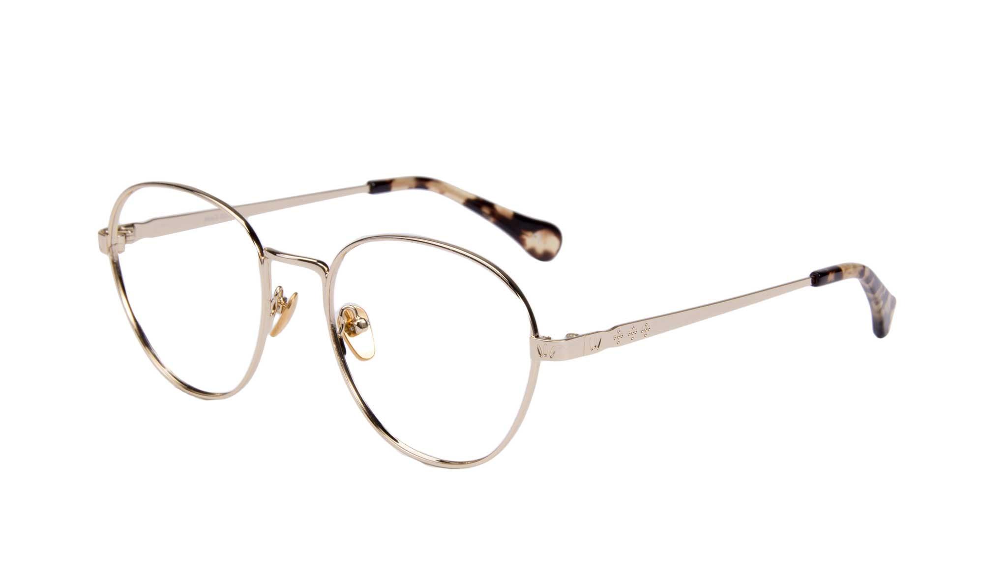 Affordable Fashion Glasses Round Eyeglasses Women Brace gold Tilt