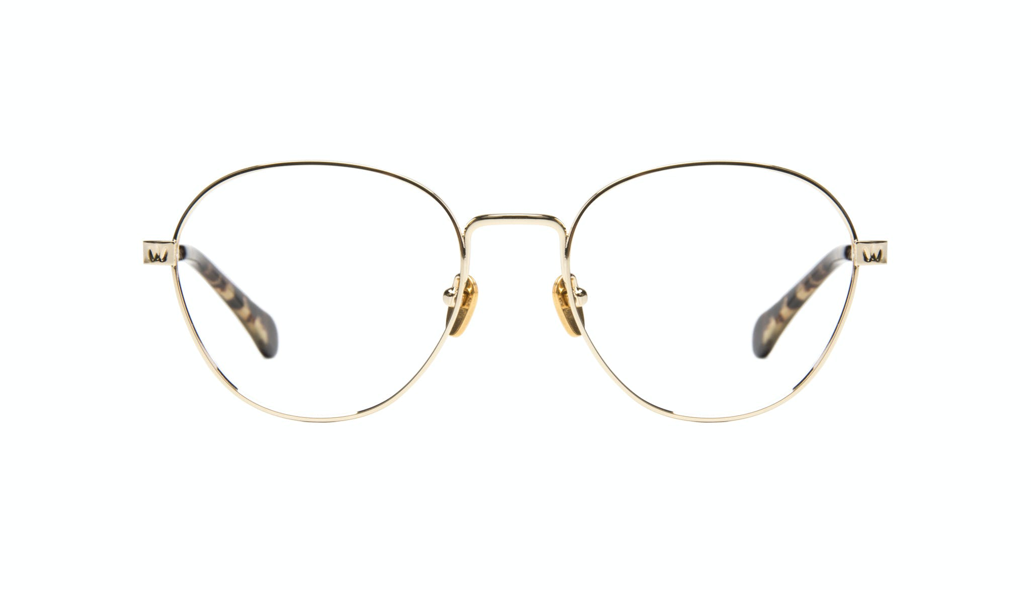 Affordable Fashion Glasses Round Eyeglasses Women Brace gold Front
