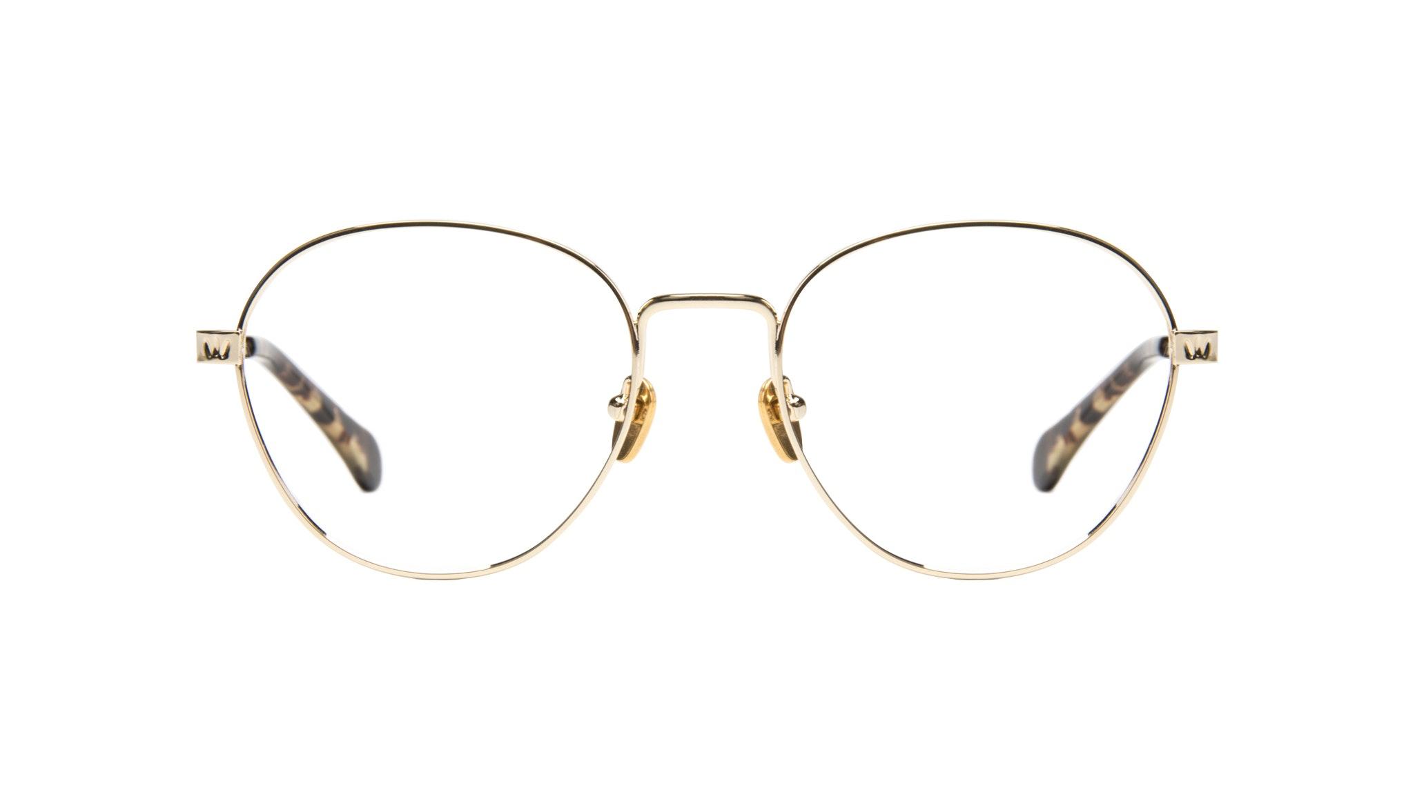 Affordable Fashion Glasses Round Eyeglasses Women Brace Gold