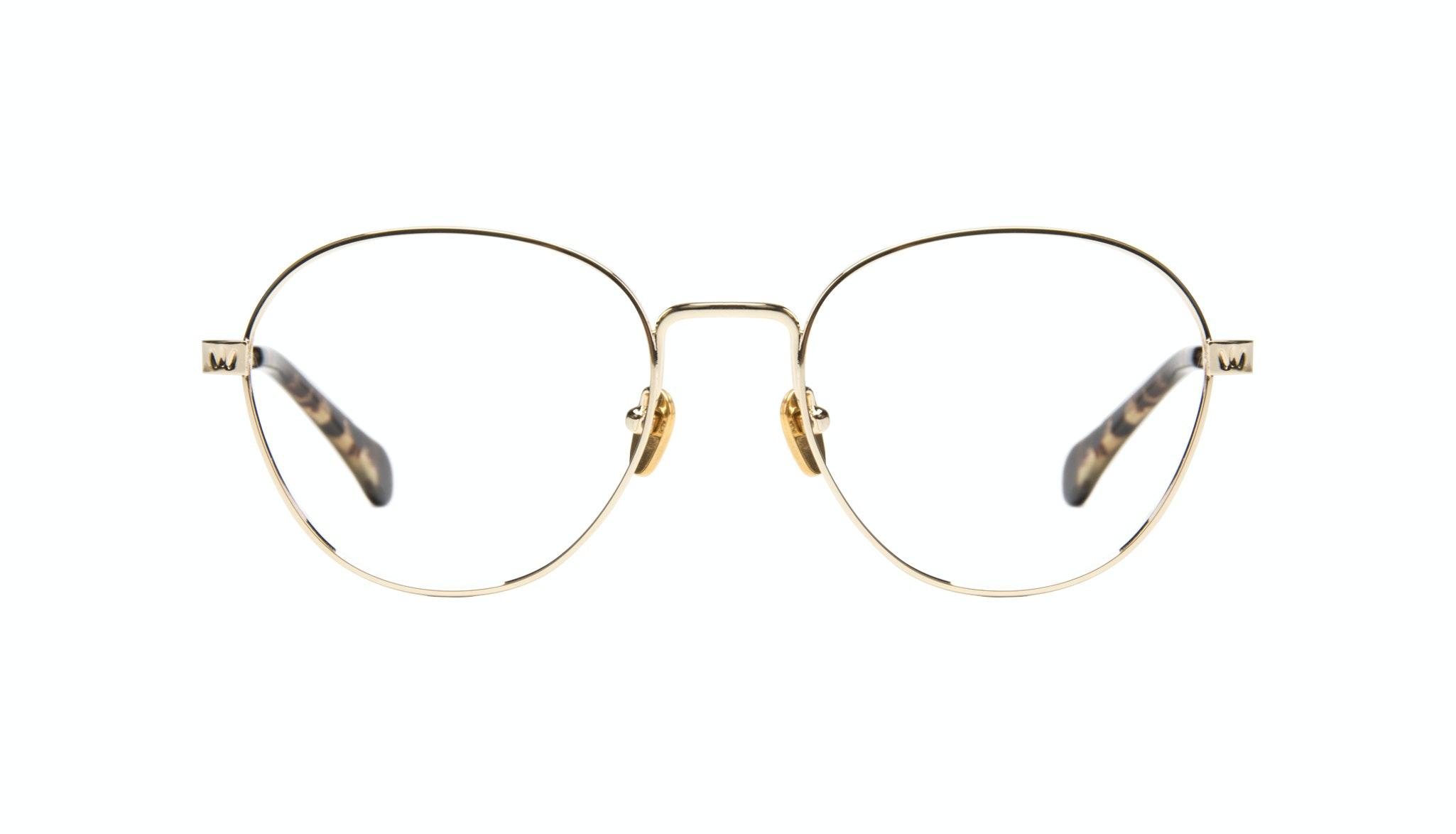 Affordable Fashion Glasses Round Eyeglasses Women Brace gold Front