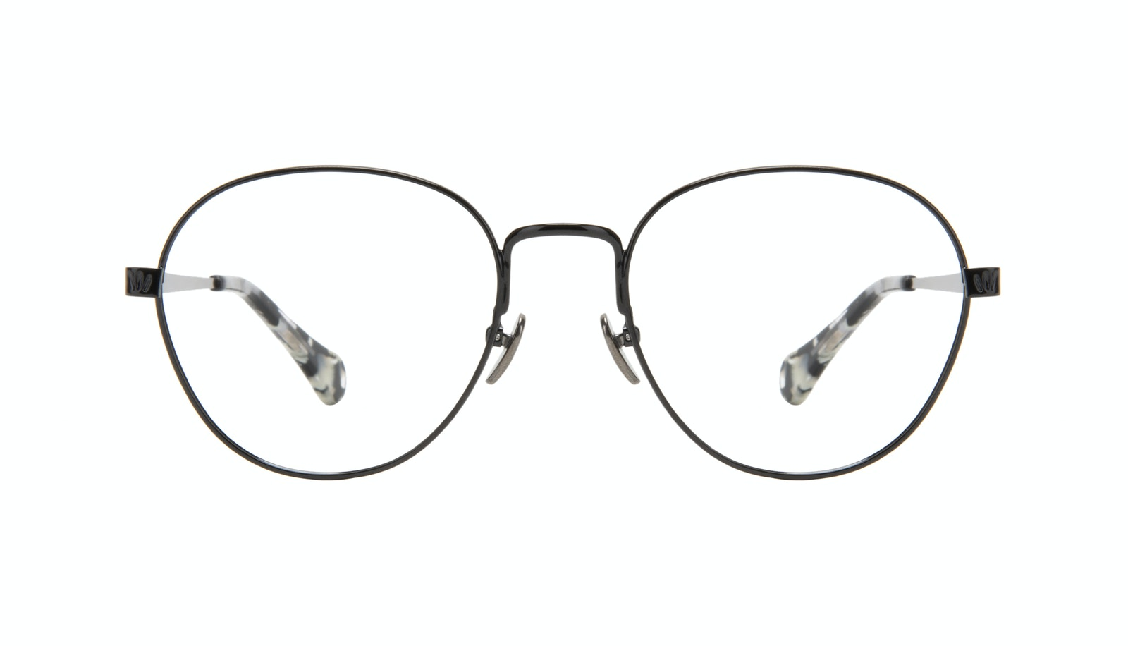 Affordable Fashion Glasses Round Eyeglasses Women Brace Onyx Marble