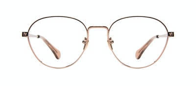 Affordable Fashion Glasses Round Eyeglasses Women Brace Rose Gold Front