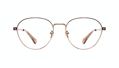 Affordable Fashion Glasses Round Eyeglasses Women Brace Rose Gold Front