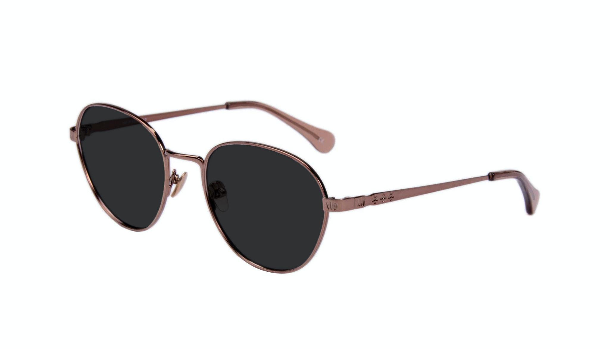 Affordable Fashion Glasses Round Sunglasses Women Brace Rose Gold Tilt