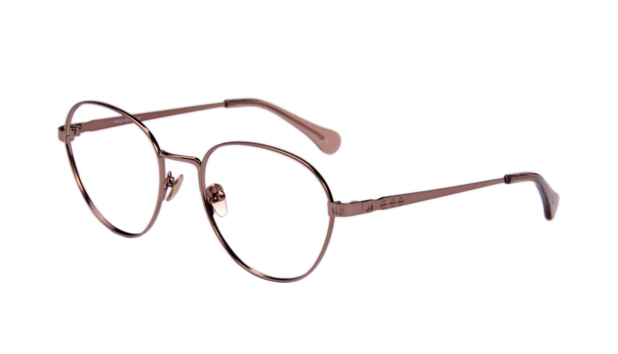 Affordable Fashion Glasses Round Eyeglasses Women Brace Rose Gold Tilt