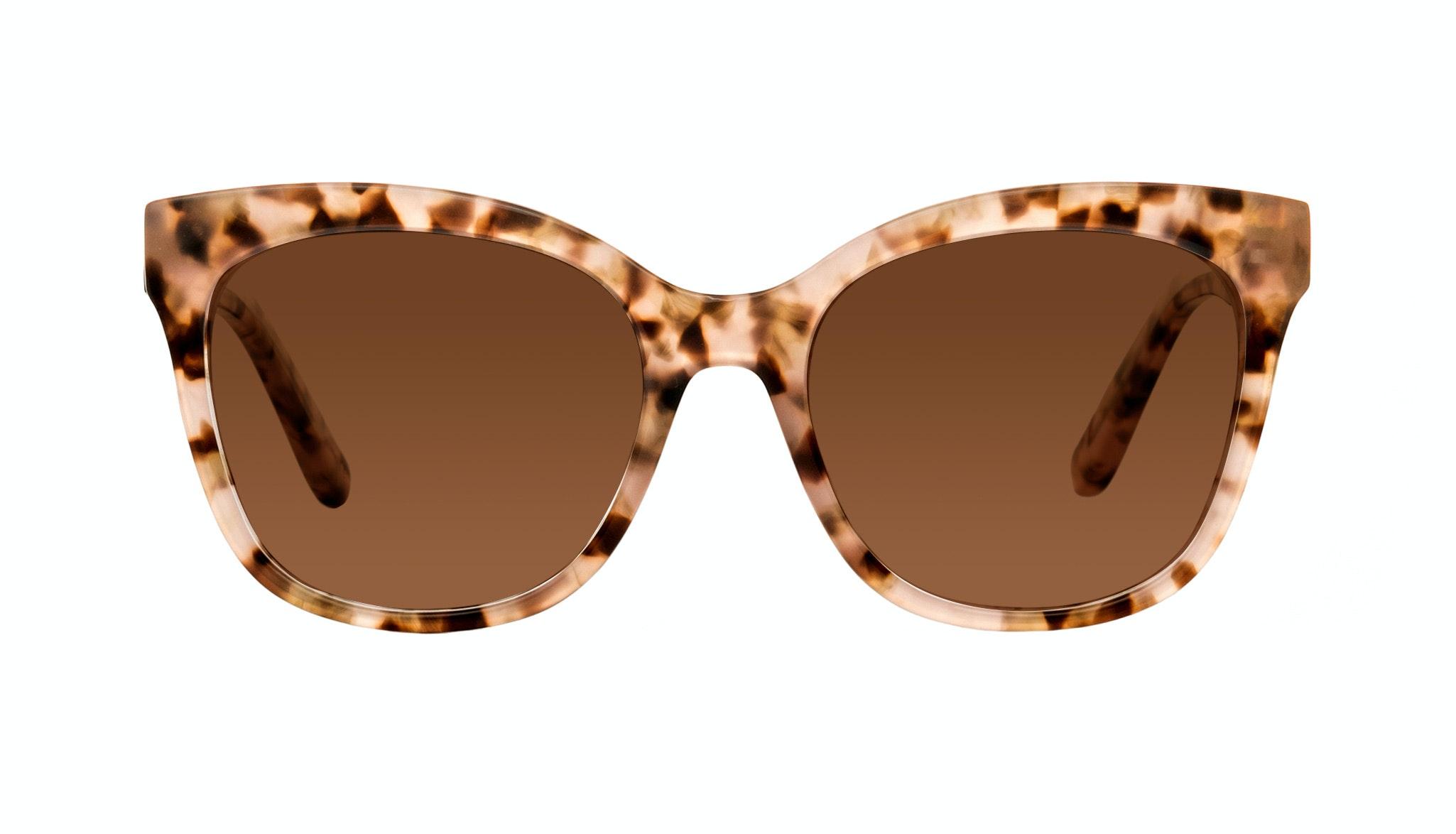 Affordable Fashion Glasses Square Sunglasses Women Breezy Pink Leopard Front