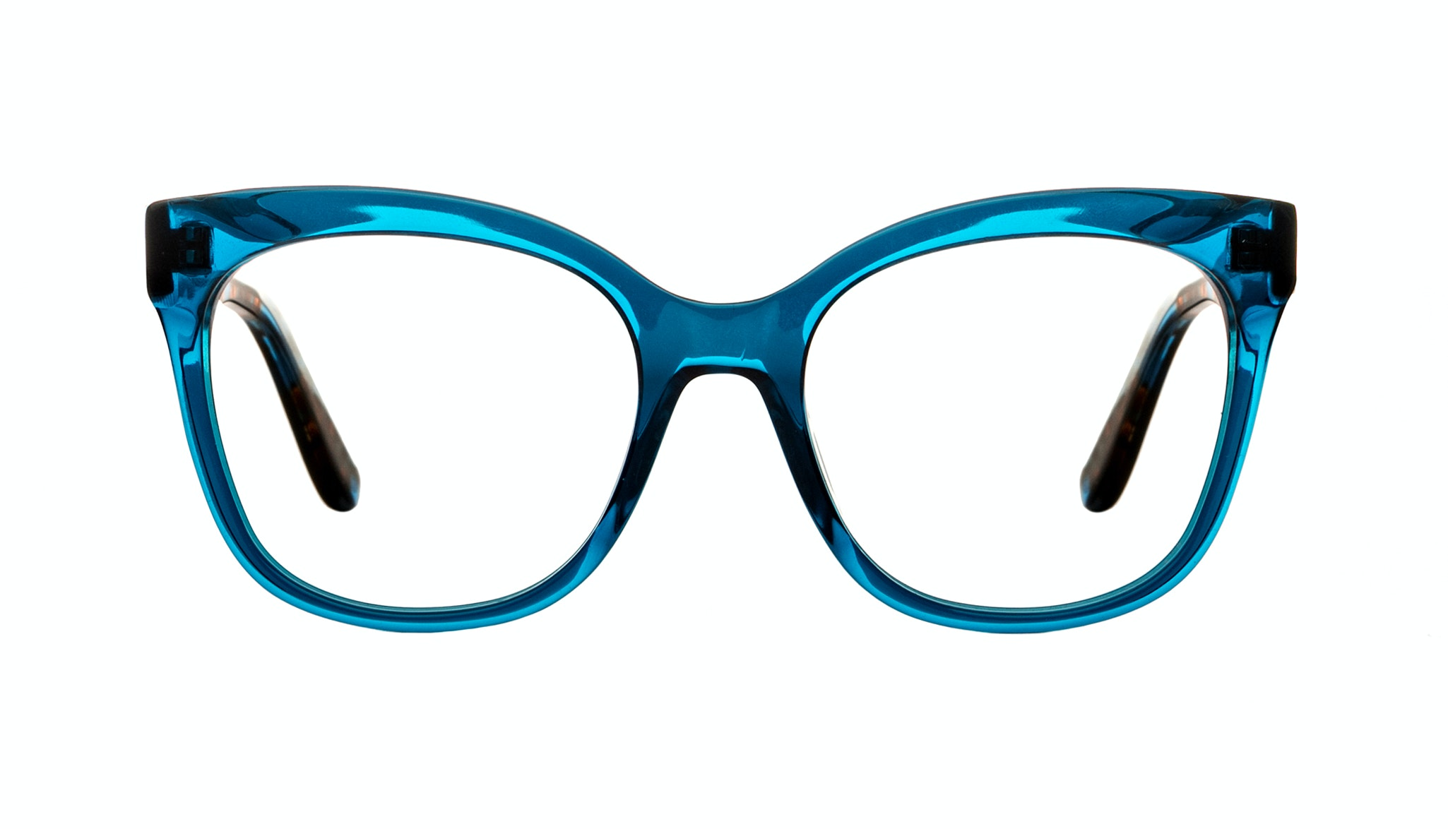 Affordable Fashion Glasses Rectangle Square Eyeglasses Women Breezy Blue Wonder