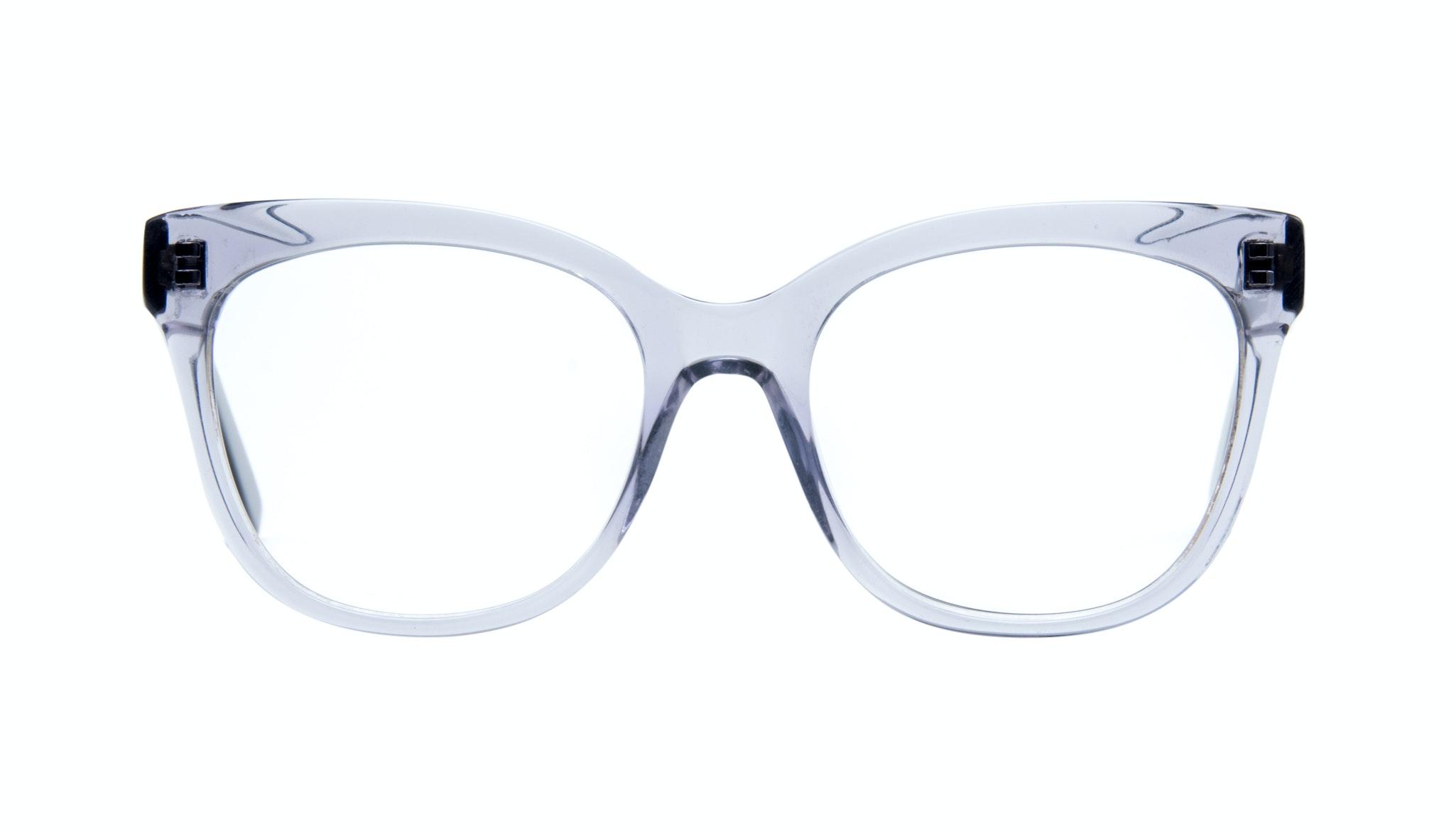 Affordable Fashion Glasses Rectangle Square Eyeglasses Women Breezy Grey Metal Front