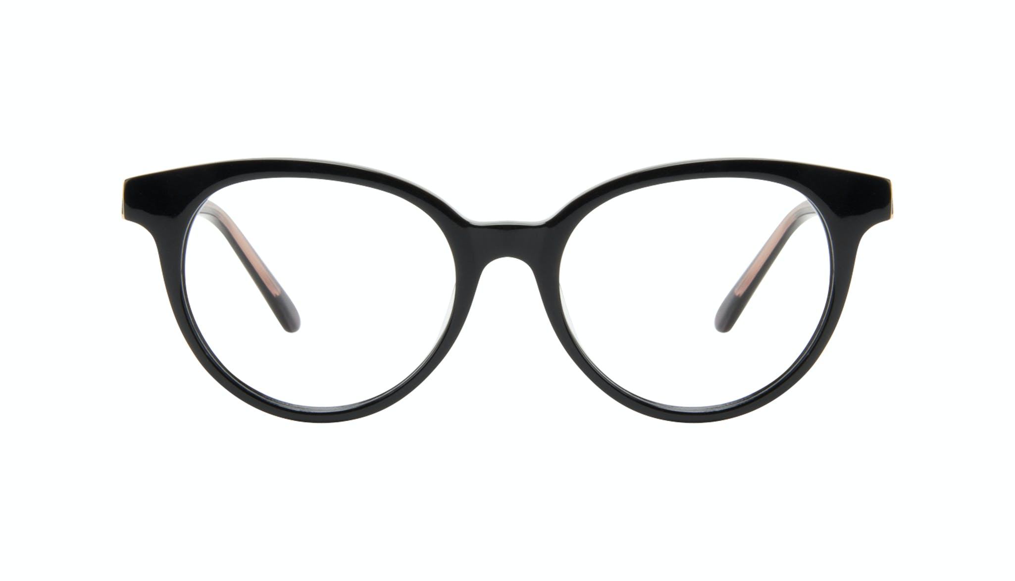 Affordable Fashion Glasses Round Eyeglasses Women Bright Black Front