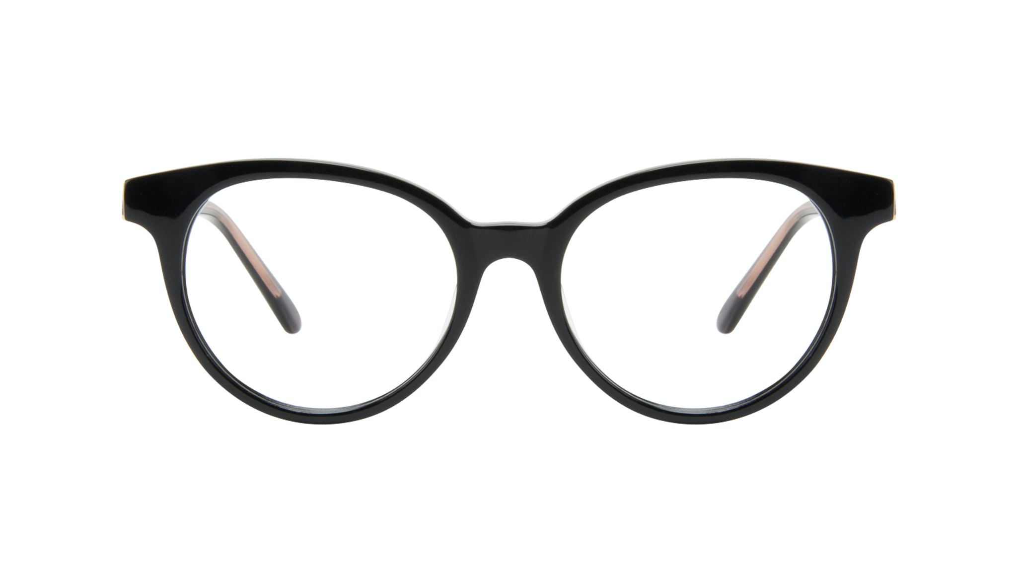 Affordable Fashion Glasses Round Eyeglasses Women Bright Black