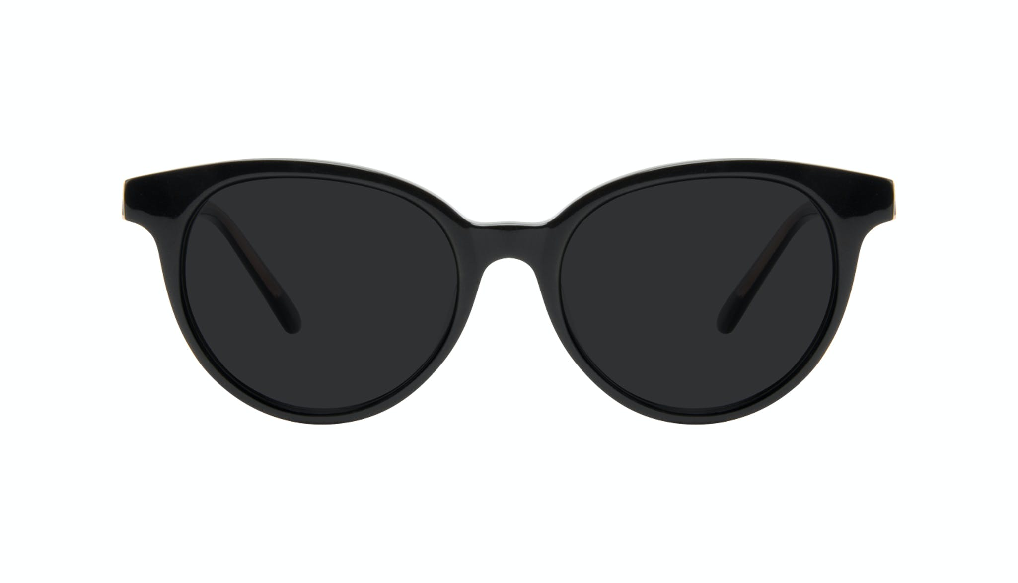 Affordable Fashion Glasses Round Sunglasses Women Bright Black