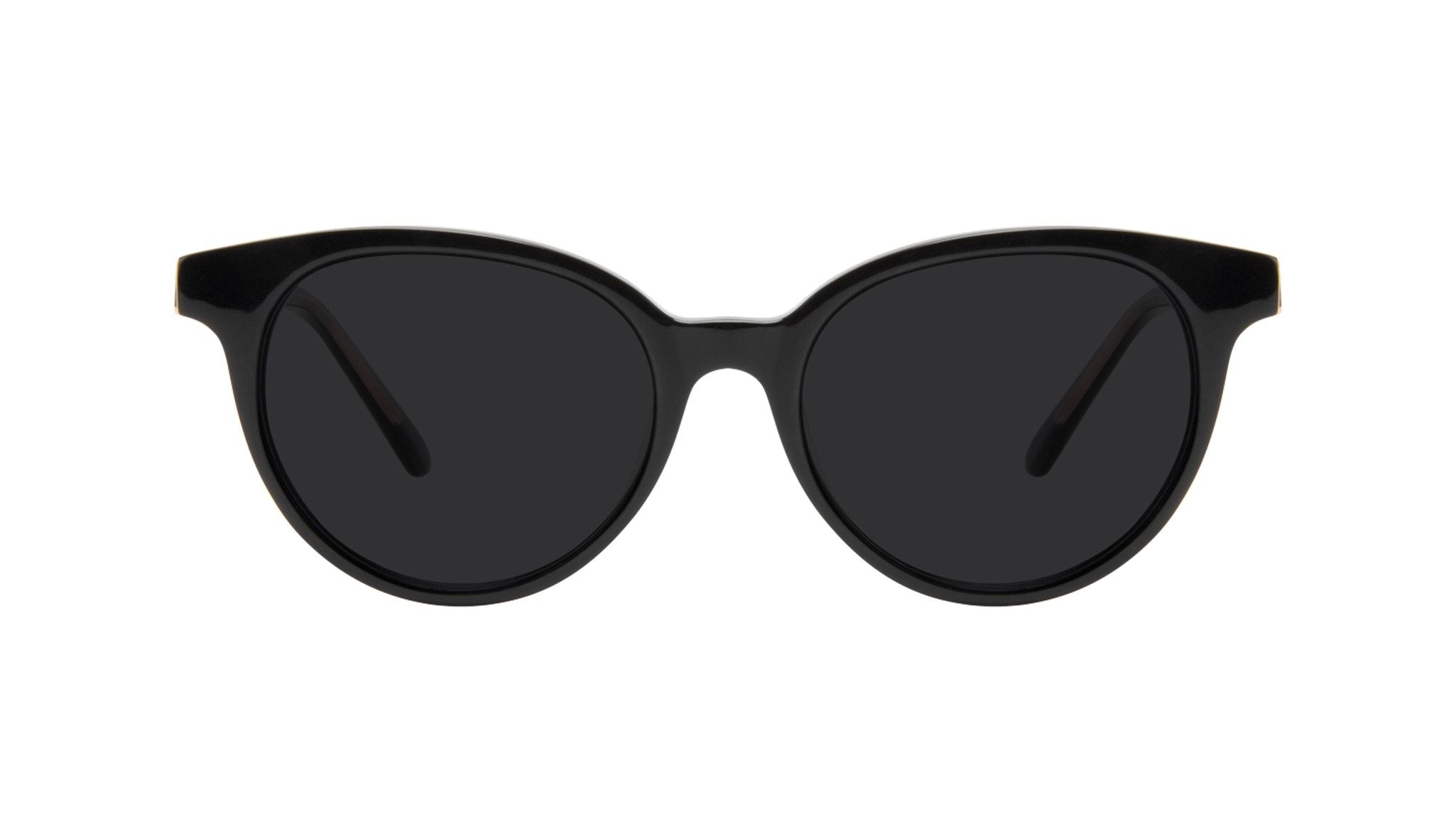 Lunettes tendance Ronde Lunettes de soleil Femmes Bright Black Face