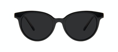 Affordable Fashion Glasses Round Sunglasses Women Bright Black Front