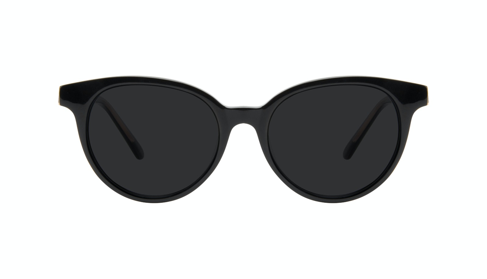 Affordable Fashion Glasses Round Sunglasses Women Bright Black