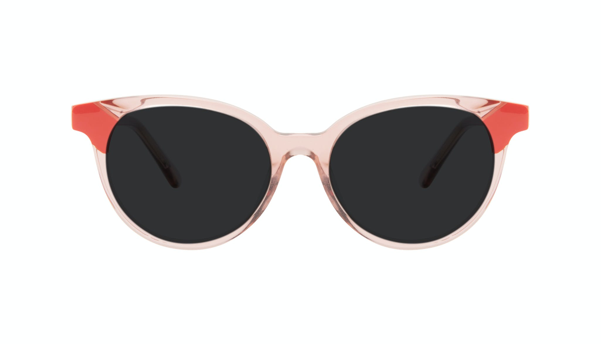 Affordable Fashion Glasses Round Sunglasses Women Bright Pink Coral