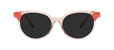 Affordable Fashion Glasses Round Sunglasses Women Bright Pink Coral Front