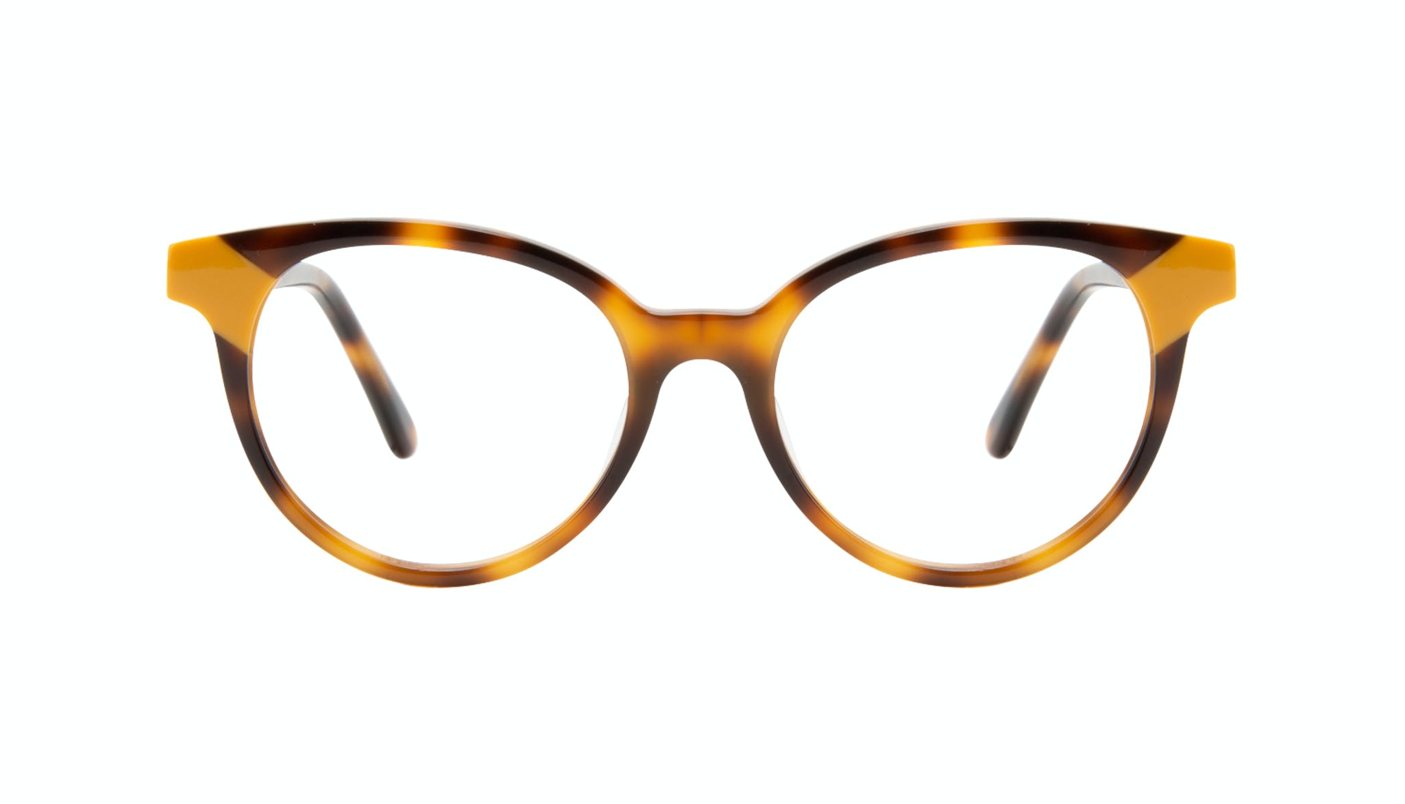 Affordable Fashion Glasses Round Eyeglasses Women Bright Yellow Pop Front