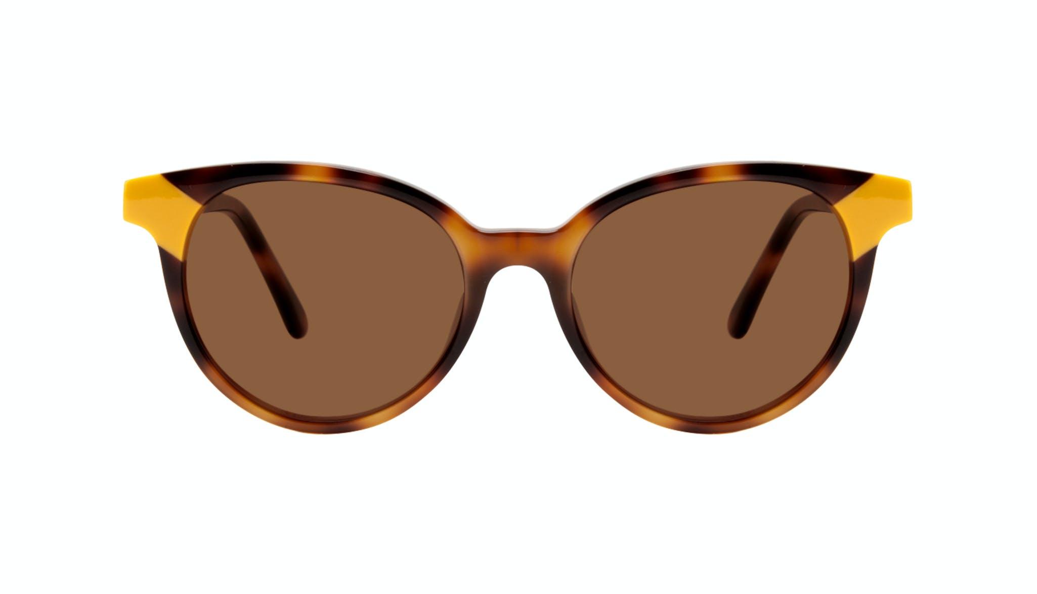 Affordable Fashion Glasses Round Sunglasses Women Bright Yellow Pop