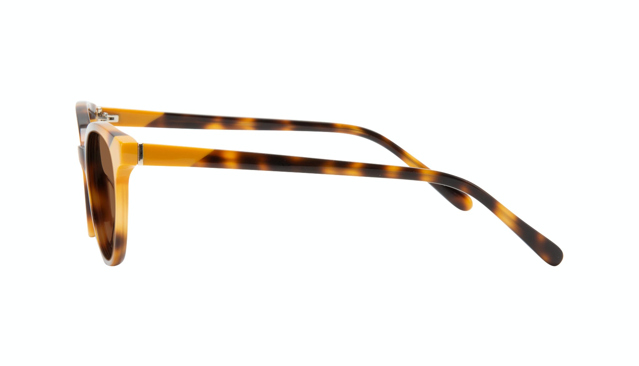 Affordable Fashion Glasses Round Sunglasses Women Bright Yellow Pop Side