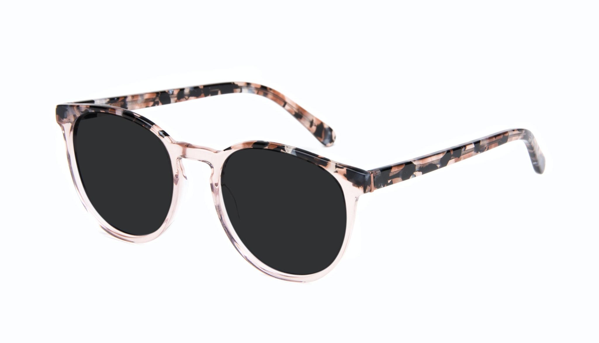 Affordable Fashion Glasses Round Sunglasses Women Brilliant Rose Tort Tilt