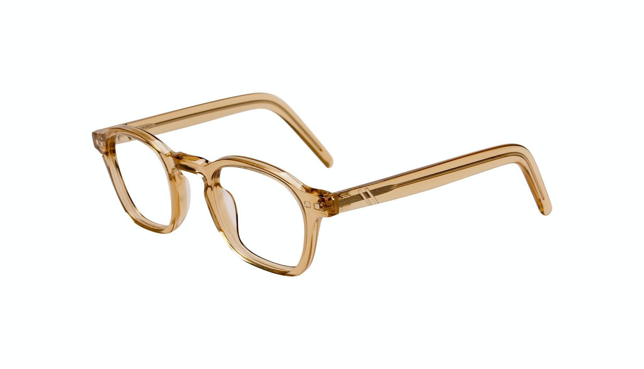 Lunettes tendance Carrée Lunettes de vue Hommes Brisk Golden Incliné