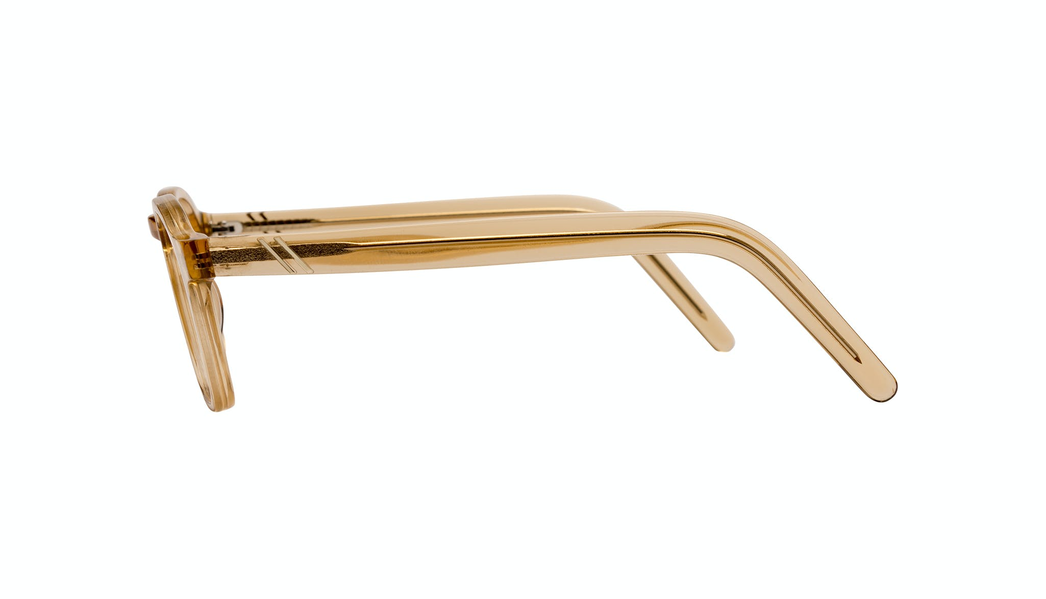 Lunettes tendance Carrée Lunettes de vue Hommes Brisk Golden Profil