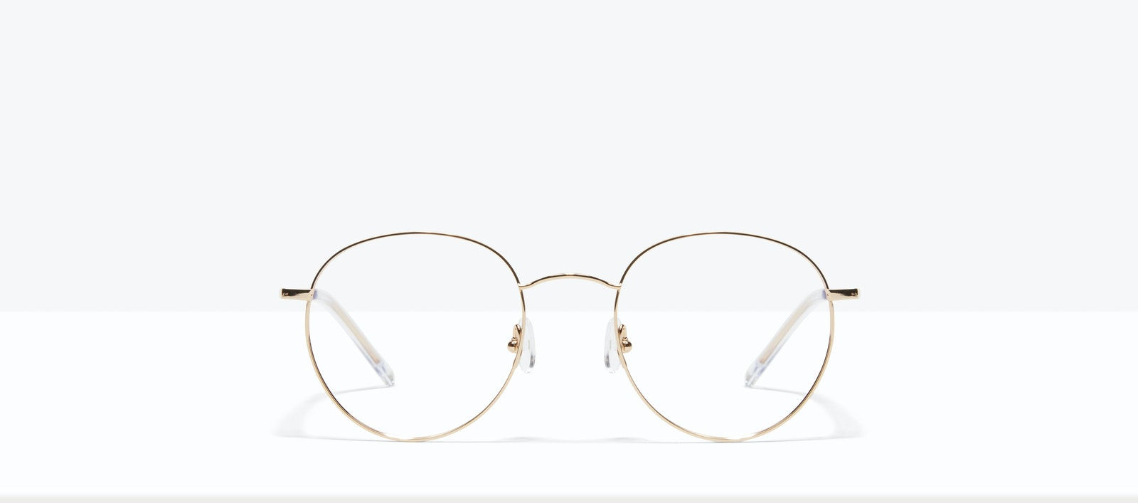 Affordable Fashion Glasses Round Eyeglasses Women Calibre Gold Front