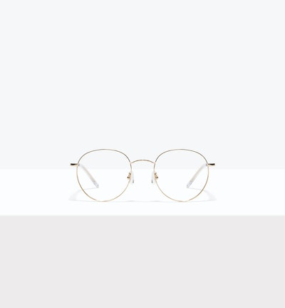 Affordable Fashion Glasses Round Eyeglasses Women Calibre Gold Front