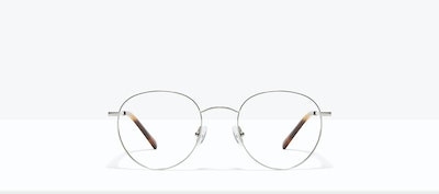 Affordable Fashion Glasses Round Eyeglasses Women Calibre Platinum Front