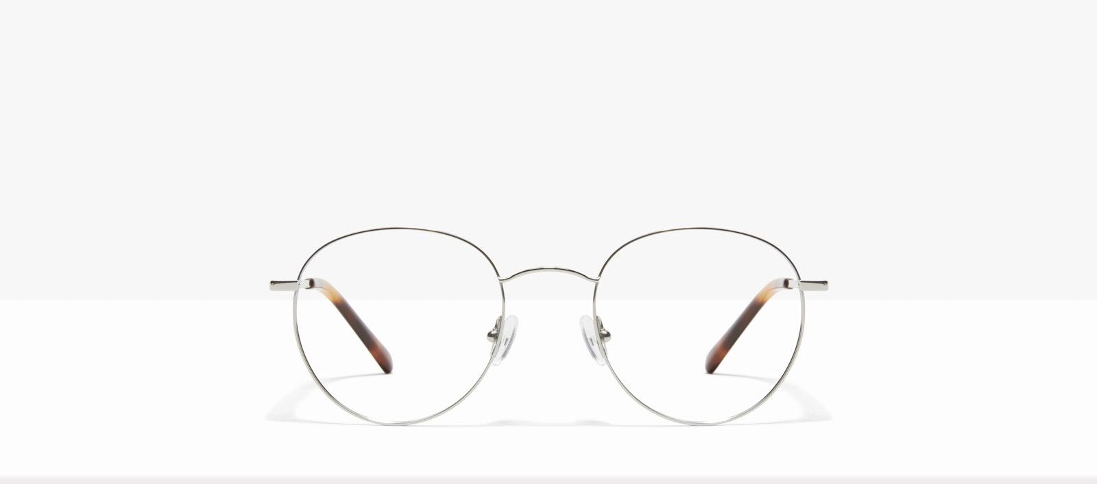 Affordable Fashion Glasses Round Eyeglasses Women Calibre Platinum Front