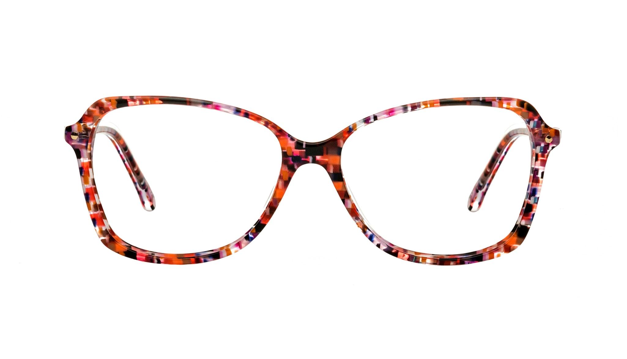 Affordable Fashion Glasses Rectangle Eyeglasses Women Captivate Berry