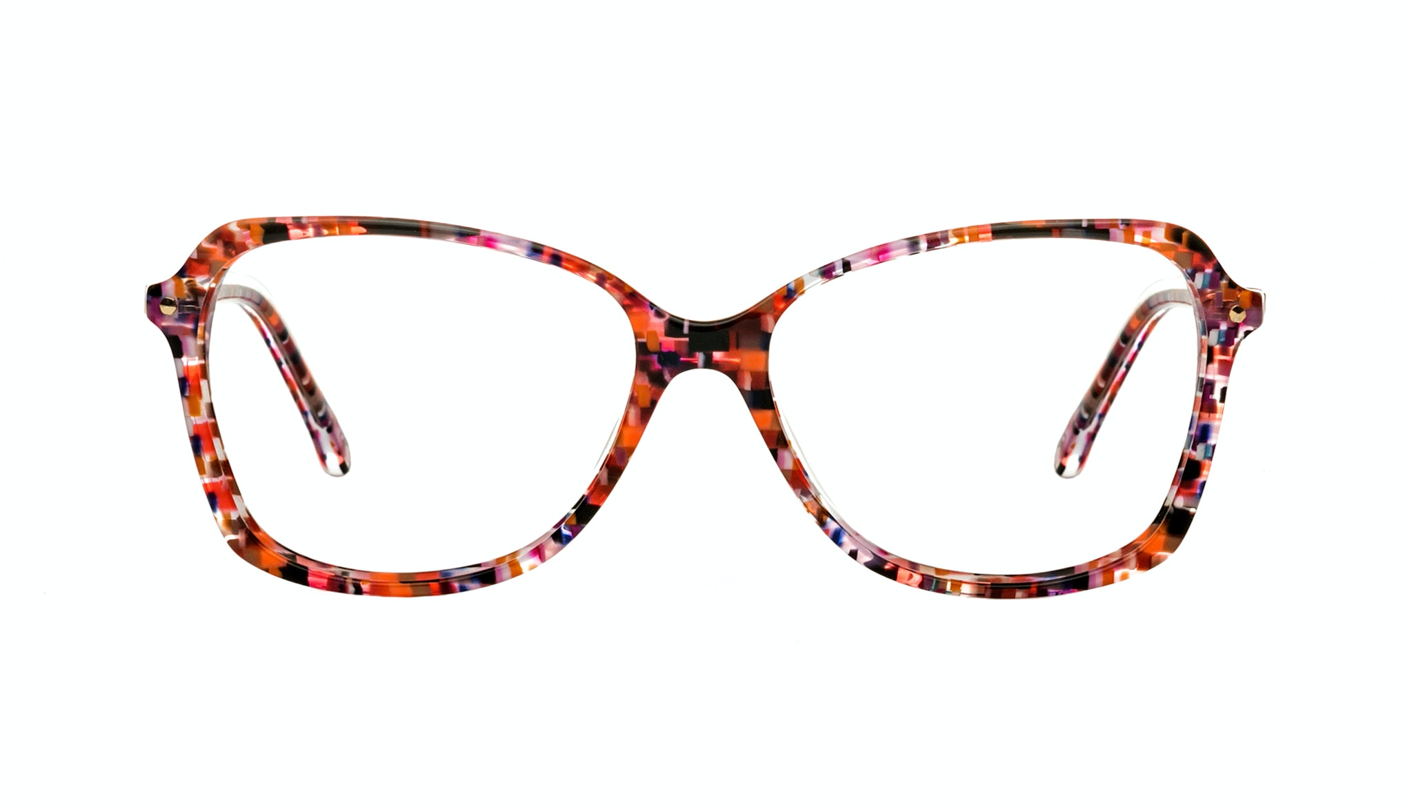 Affordable Fashion Glasses Rectangle Eyeglasses Women Captivate Berry Front