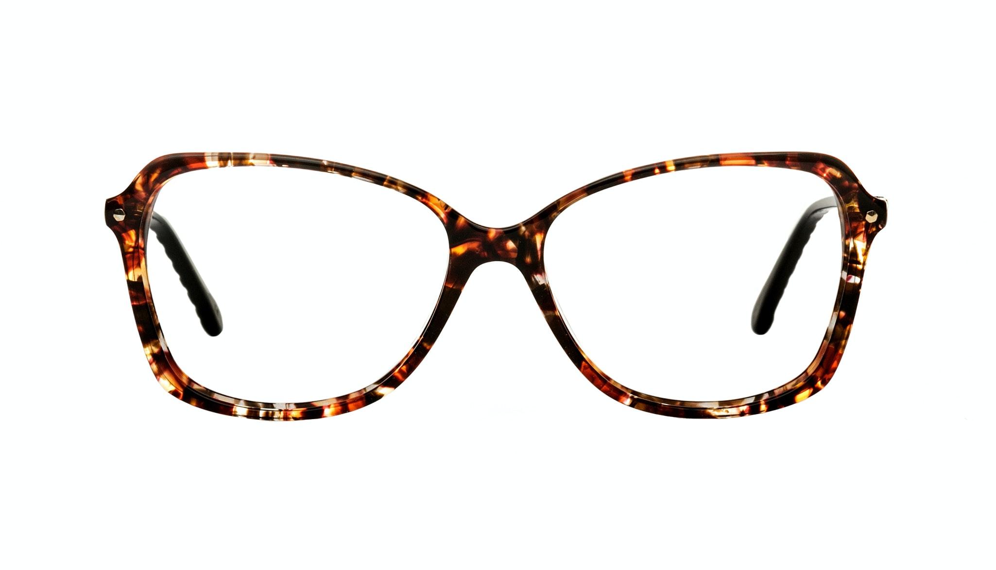 Affordable Fashion Glasses Rectangle Eyeglasses Women Captivate Onyx Lava Front
