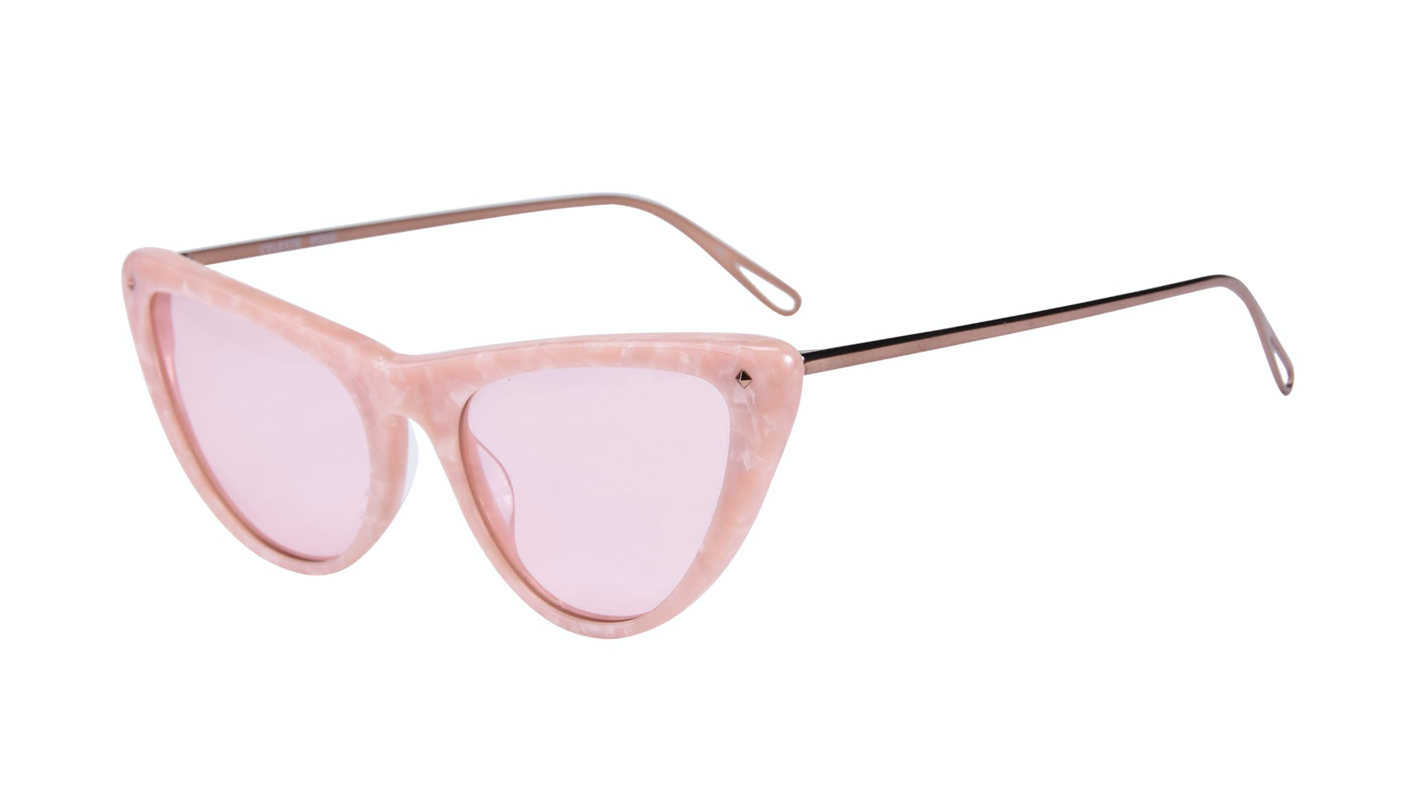 Affordable Fashion Glasses Cat Eye Sunglasses Women Celeste Rose Tilt