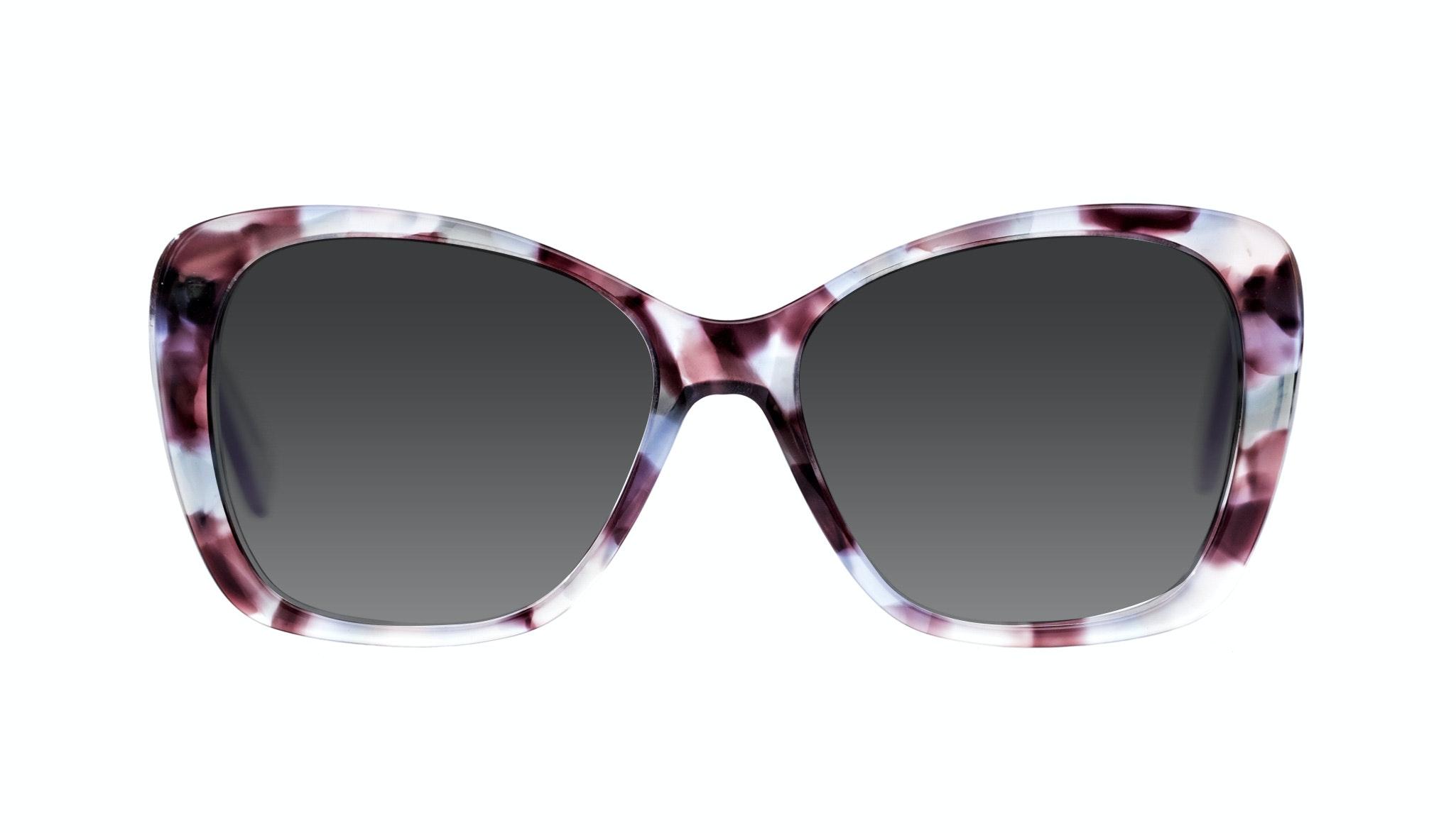 Affordable Fashion Glasses Cat Eye Square Sunglasses Women Charm Lilac Tort