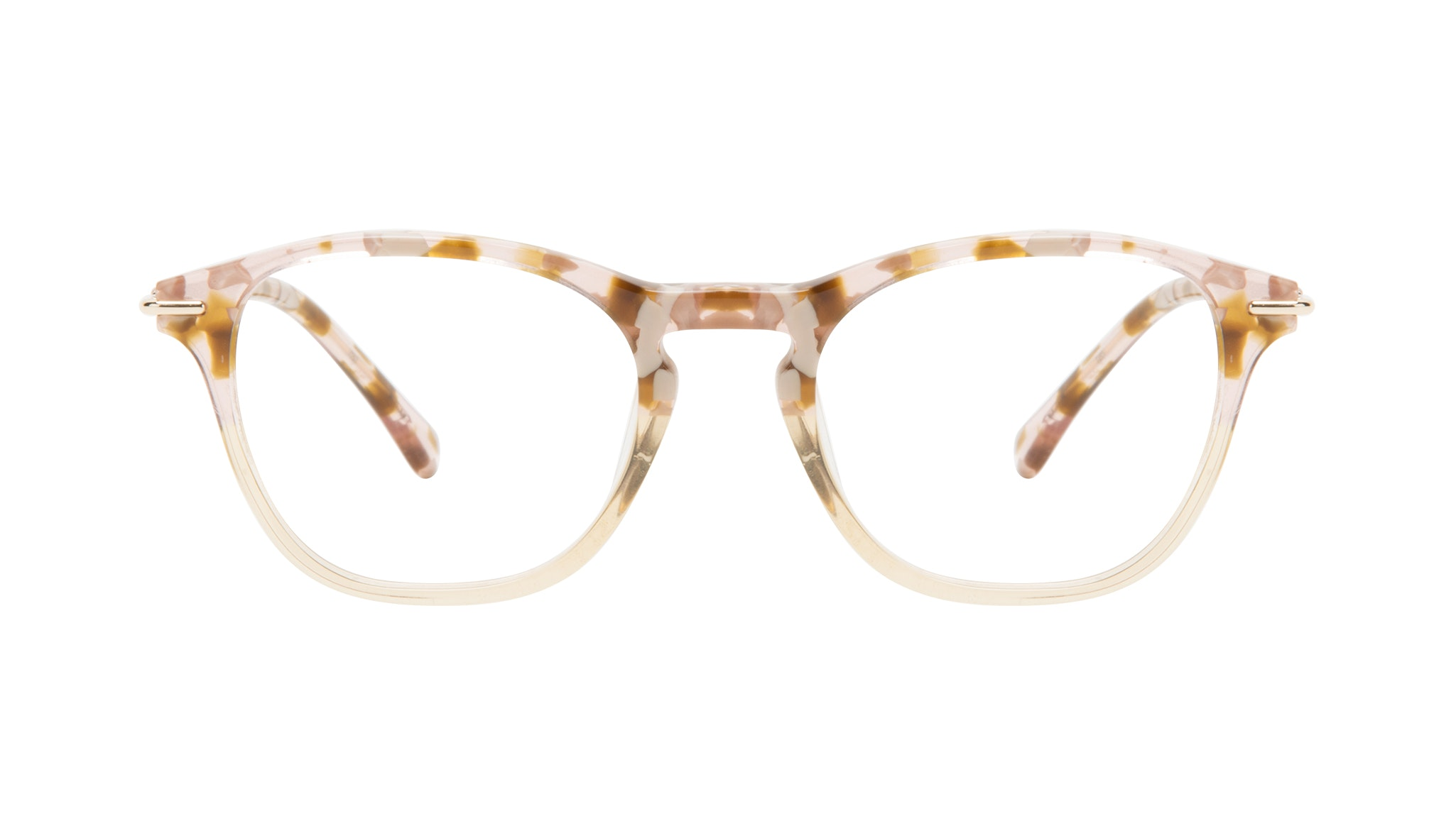 Affordable Fashion Glasses Square Eyeglasses Women Charming Blond Flake Front