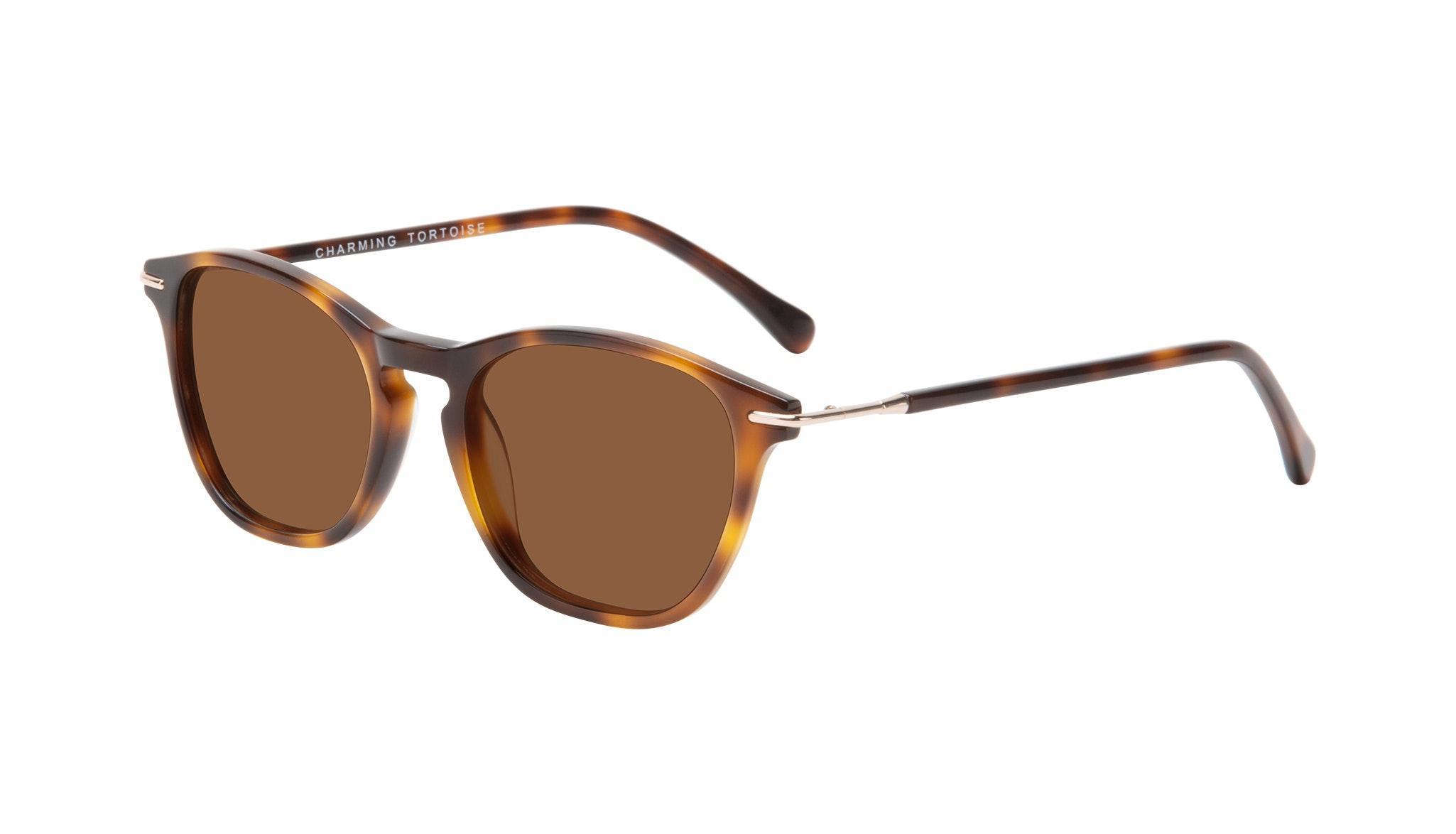 Affordable Fashion Glasses Square Sunglasses Women Charming Tortoise Tilt
