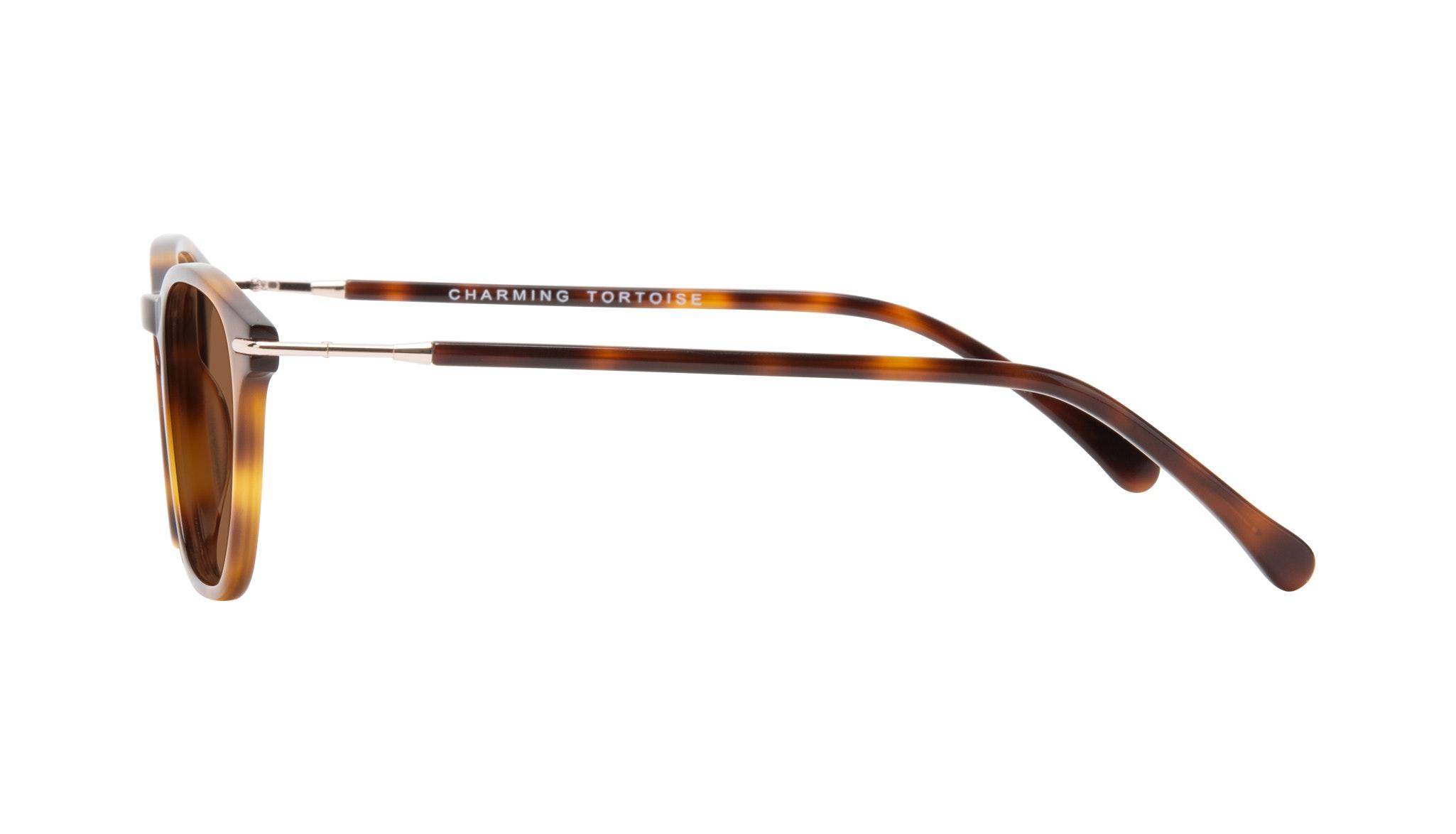 Affordable Fashion Glasses Square Sunglasses Women Charming Tortoise Side