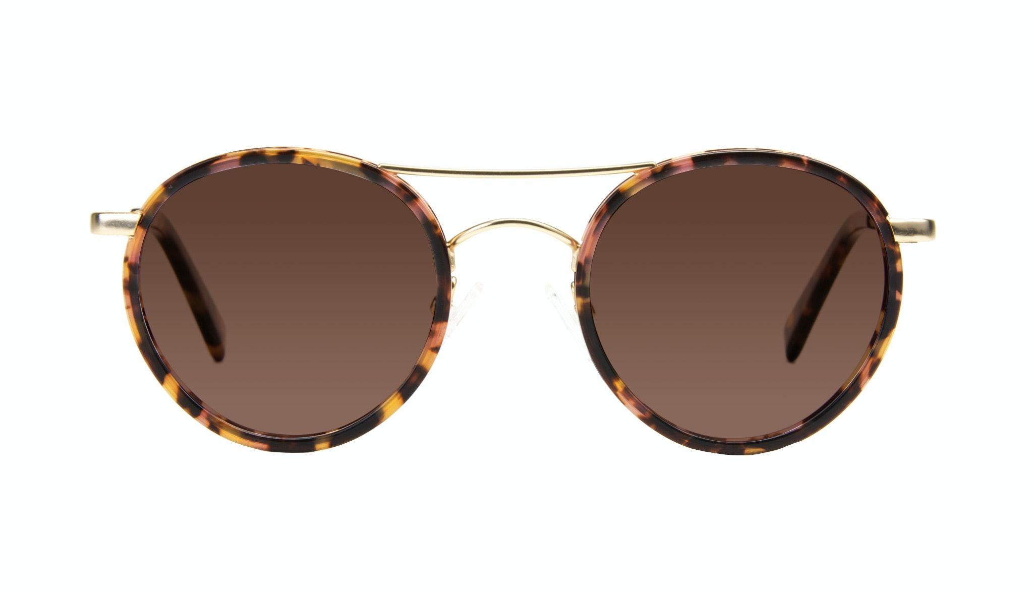 Affordable Fashion Glasses Aviator Round Sunglasses Women Chelsea Gold Tortoise