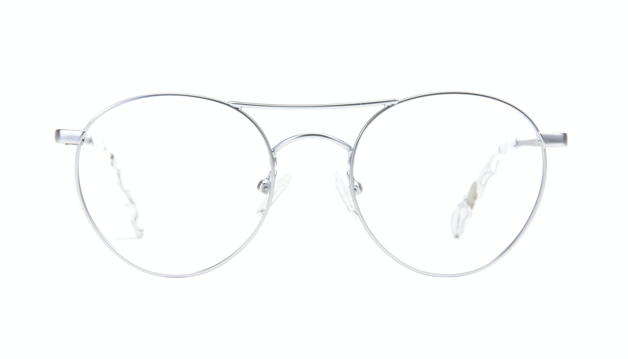 Affordable Fashion Glasses Aviator Round Eyeglasses Women Chelsea Light Marble Front