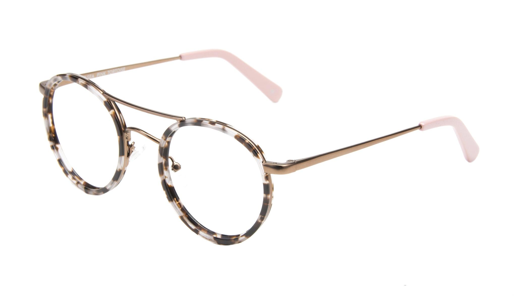 Affordable Fashion Glasses Aviator Round Eyeglasses Women Chelsea Pink Tortoise Tilt