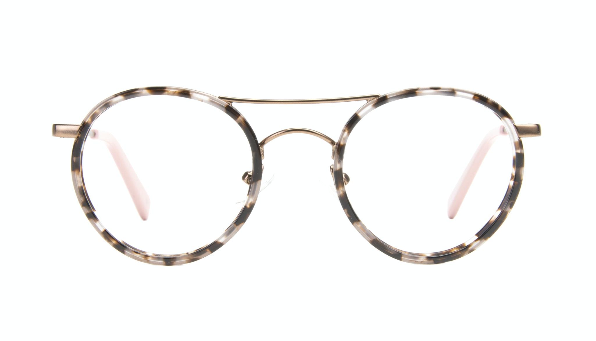 Affordable Fashion Glasses Aviator Round Eyeglasses Women Chelsea Pink Tortoise Front