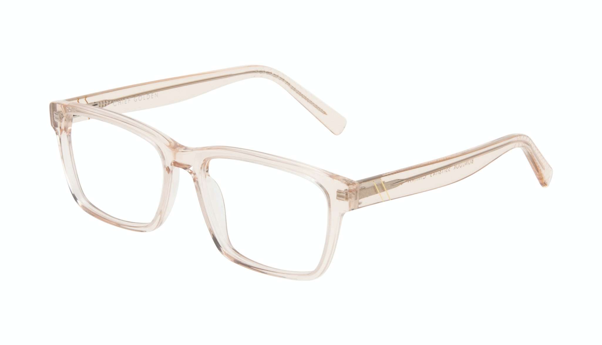 Affordable Fashion Glasses Square Eyeglasses Men Chief Golden Tilt